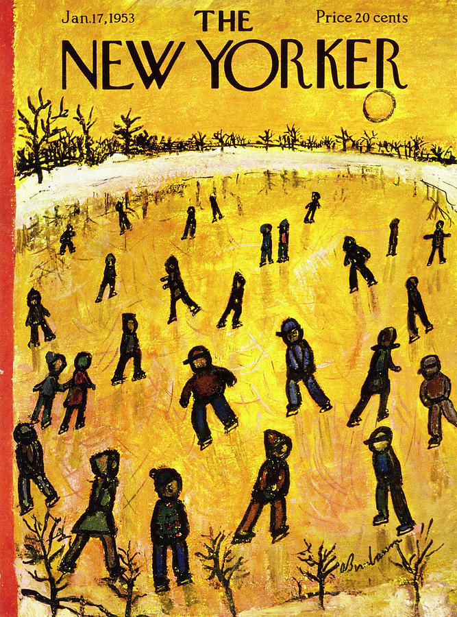 New Yorker January 17 1953 Painting by Abe Birnbaum