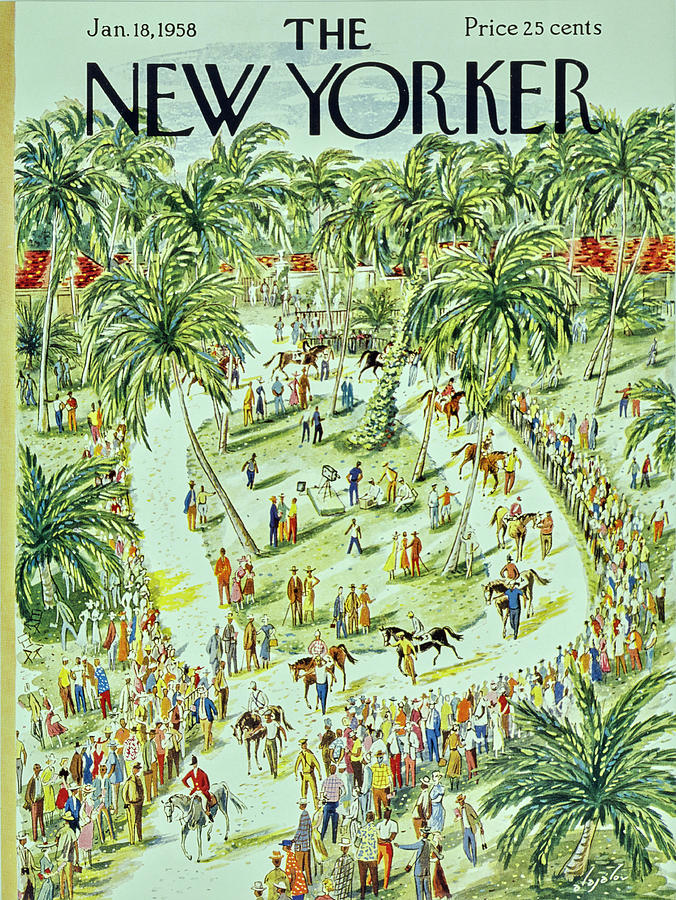 New Yorker January 18 1958 Painting by Constantin Alajalov