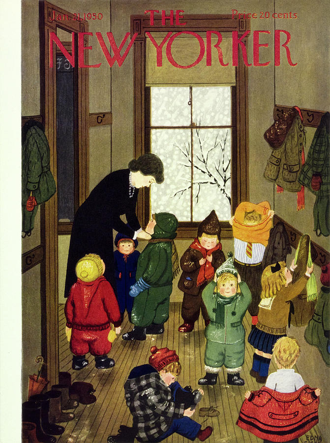 New Yorker January 21 1950 Painting by Edna Eicke