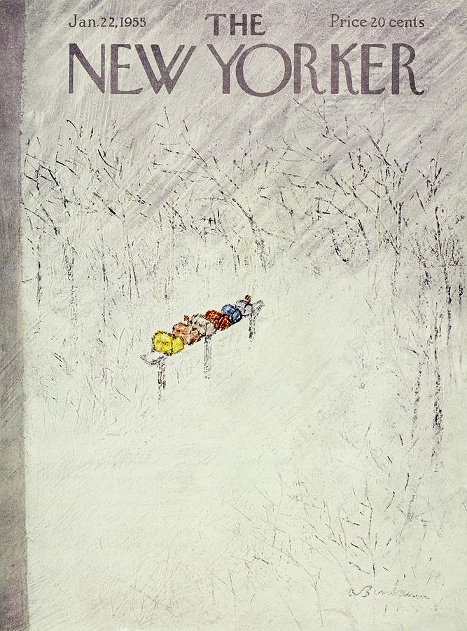 New Yorker January 22 1955 Painting by Abe Birnbaum