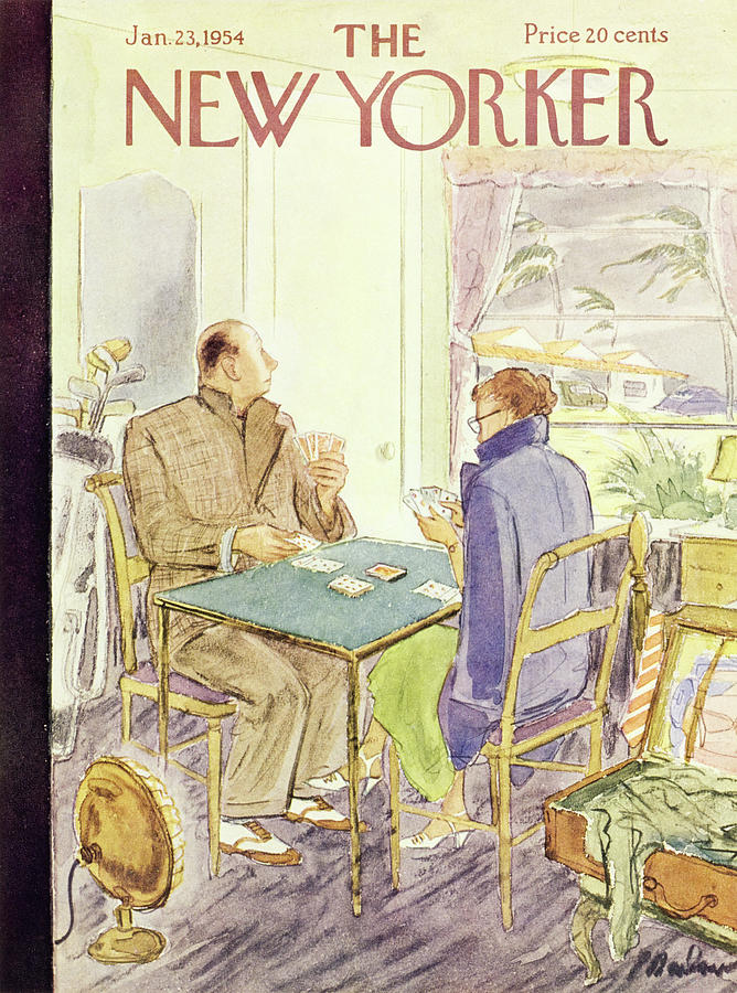 New Yorker January 23 1954 Painting by Perry Barlow