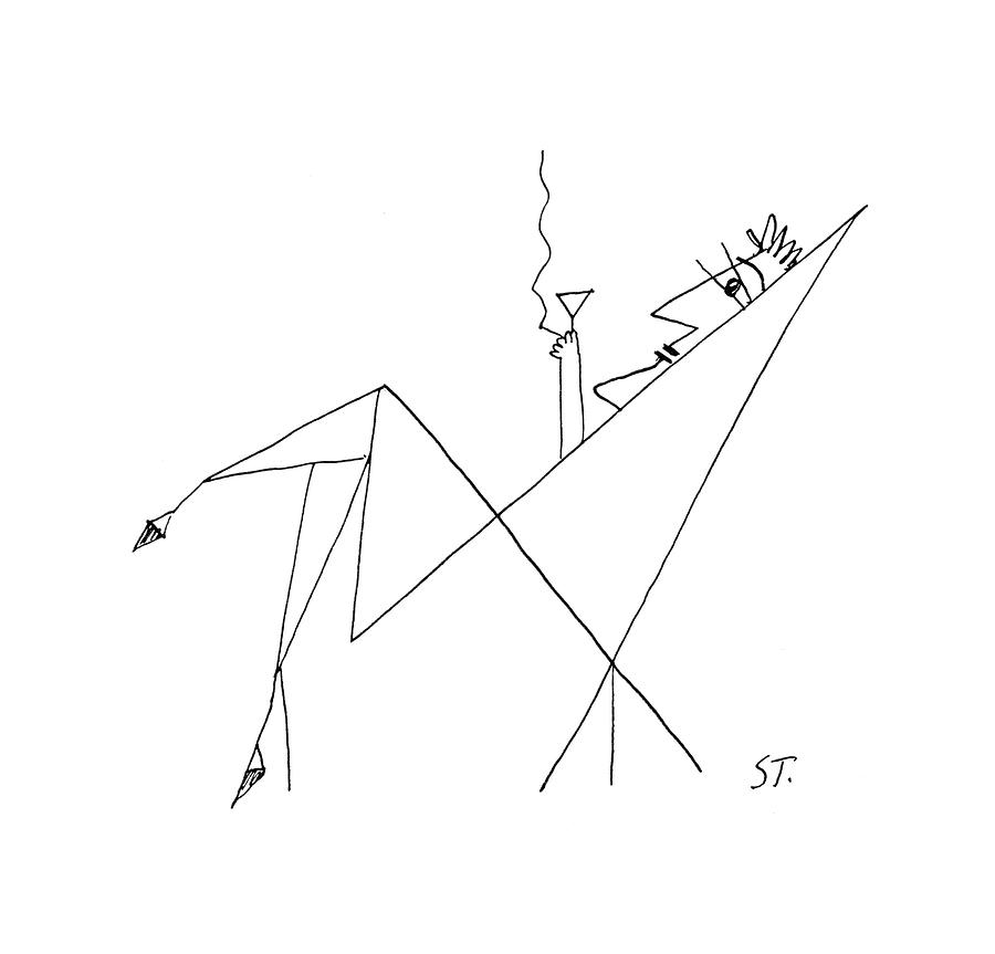 New Yorker January 26th, 1957 Drawing by Saul Steinberg