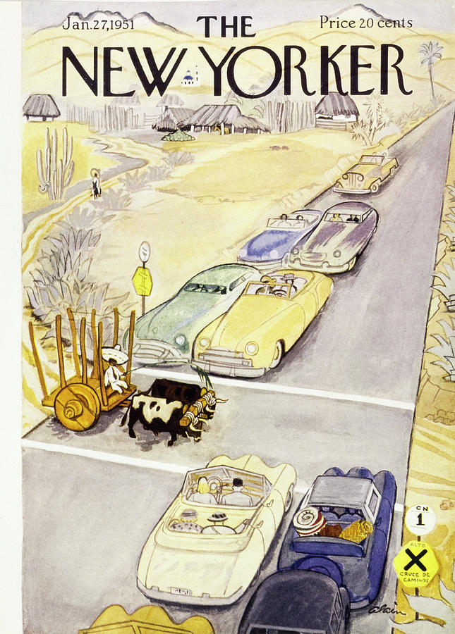 New Yorker January 27 1951 Painting by Daniel Brustlein