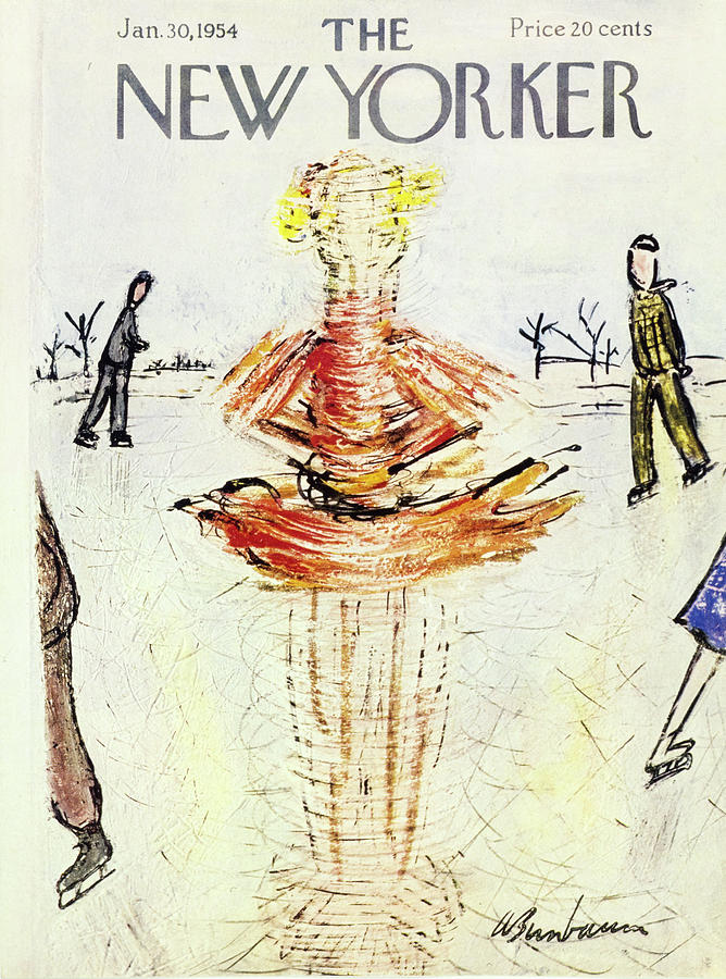 New Yorker January 30 1954 Painting by Abe Birnbaum
