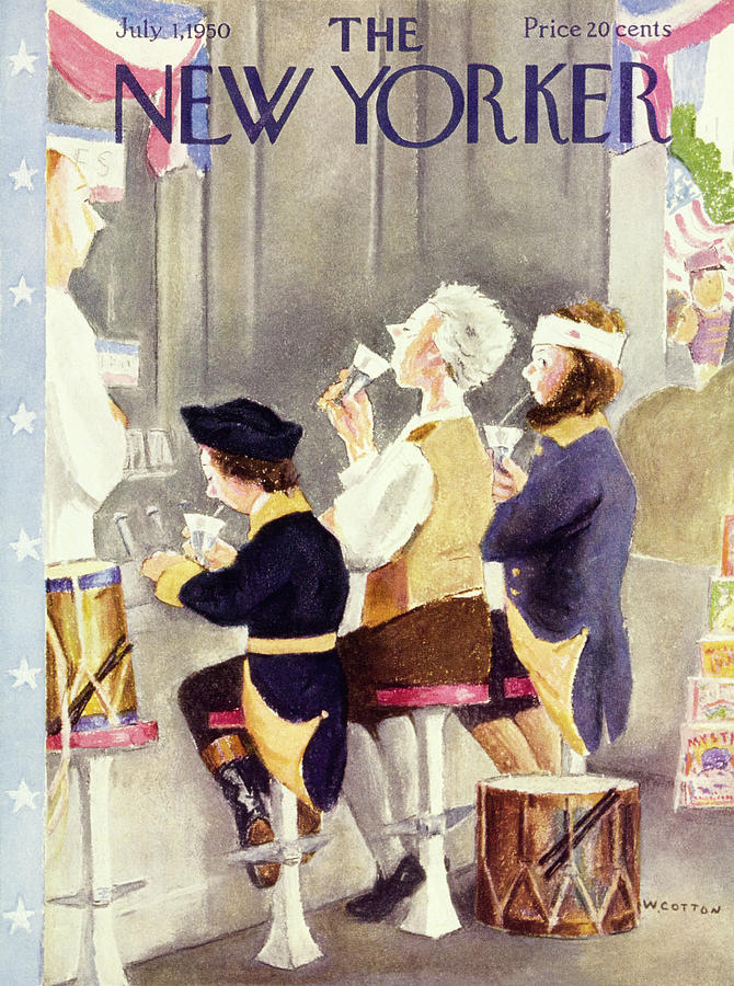 New Yorker July 1 1950 Painting by William Cotton