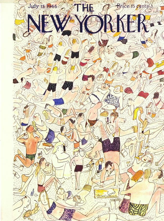New Yorker July 13 1946 Drawing by Ludwig Bemelmans