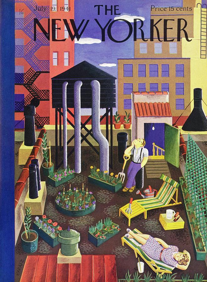 New Yorker July 19 1941 Painting by Ilonka Karasz