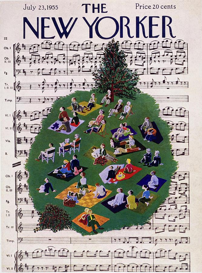 New Yorker July 23 1955 Painting by Ilonka Karasz