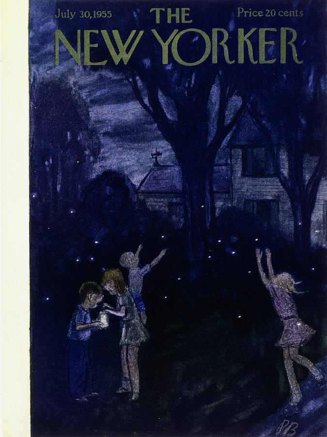New Yorker July 30 1955 Painting by Perry Barlow