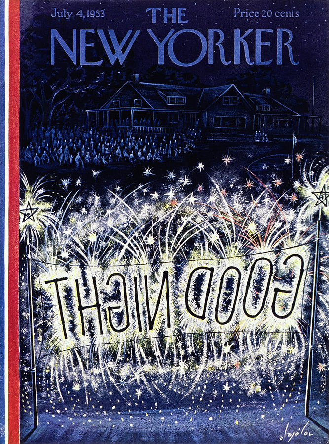 New Yorker July 4 1953 Painting by Constantin Alajalov