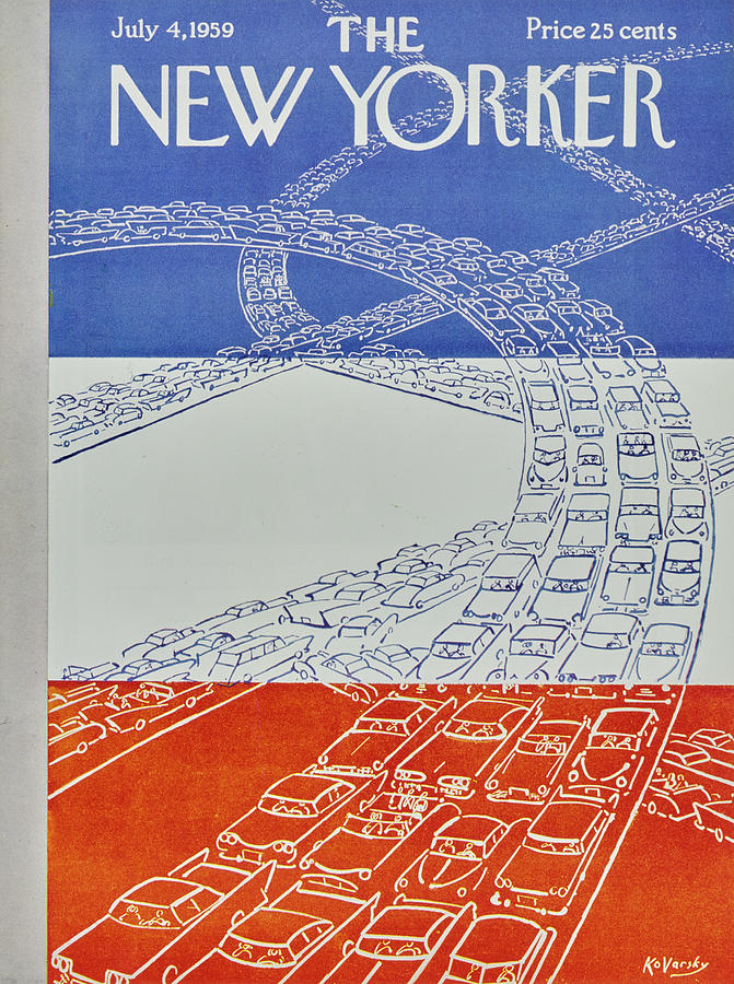 New Yorker July 4 1959 Painting by Anatole Kovarsky