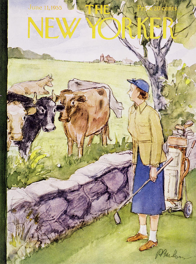 New Yorker June 11 1955 Painting by Perry Barlow
