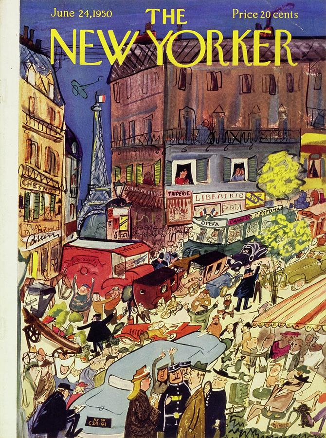 New Yorker June 24 1950 Painting by Ludwig Bemelmans