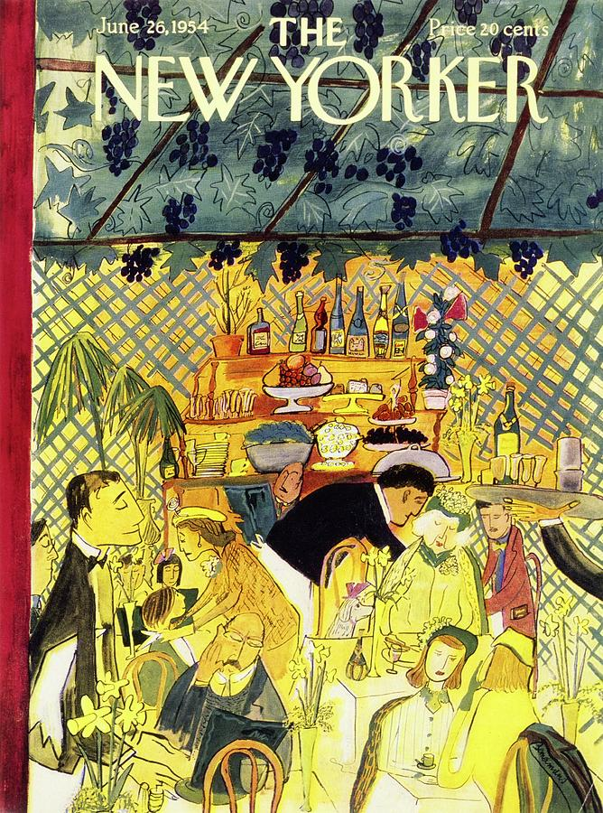 New Yorker June 26 1954 Painting by Ludwig Bemelmans
