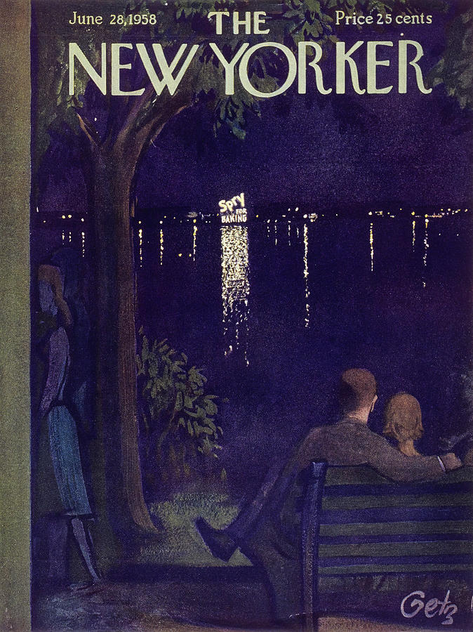 Couple Painting - New Yorker June 28 1958 by Arthur Getz