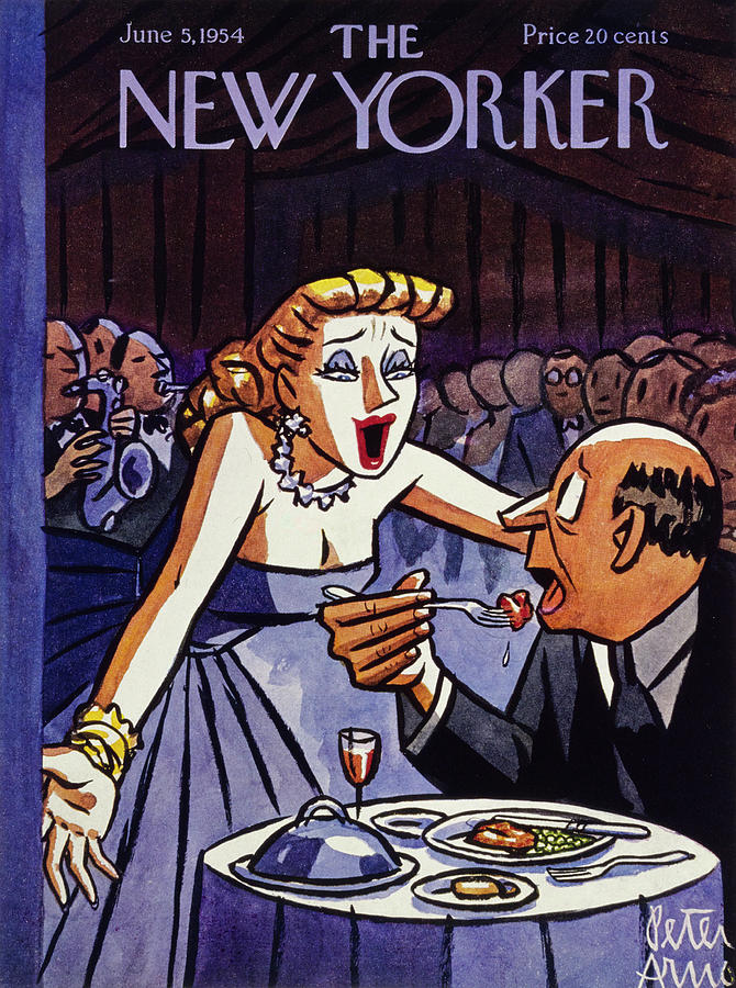New Yorker June 5 1954 Painting by Peter Arno