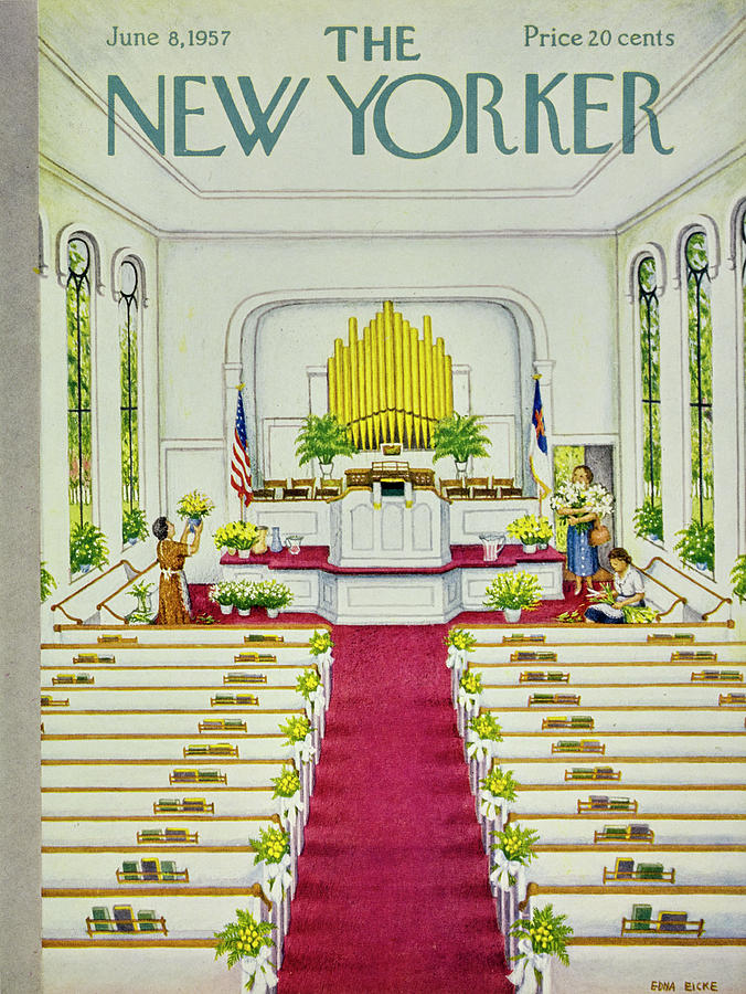 New Yorker June 8 1957 Painting by Edna Eicke