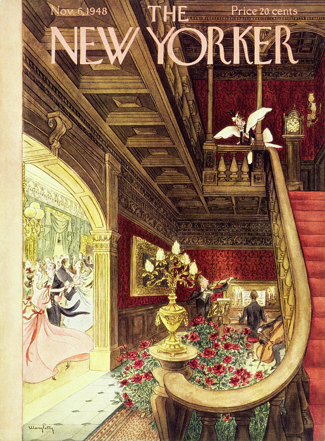 New Yorker Magazine Cover Of A Maid Painting by Mary Petty