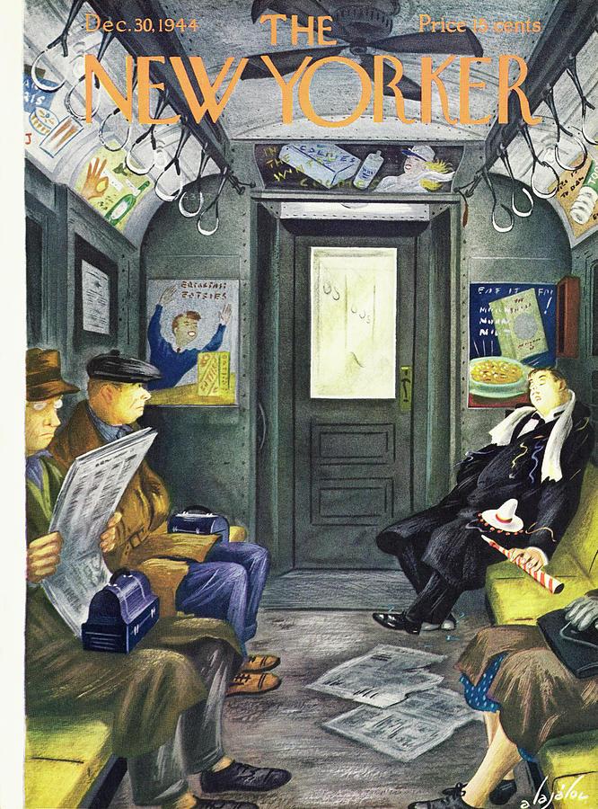 New Yorker December 30, 1944 Painting by Constantin Alajalov