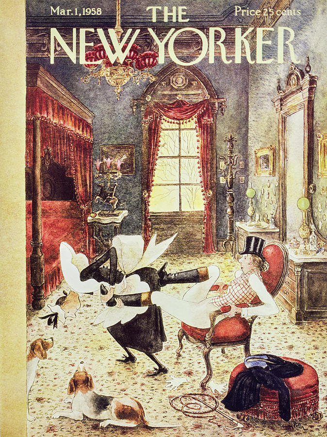 New Yorker March 1 1958 Painting by Mary Petty