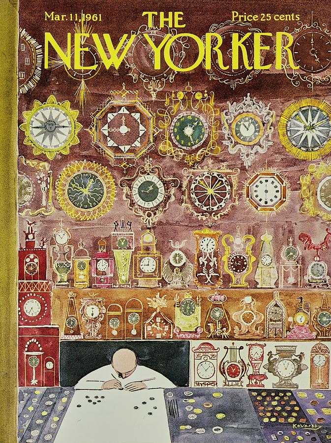 New Yorker March 11 1961 Painting by Anatole Kovarsky