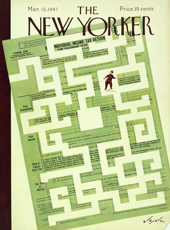 New Yorker March 15 1947 Painting by Constantin Alajalov
