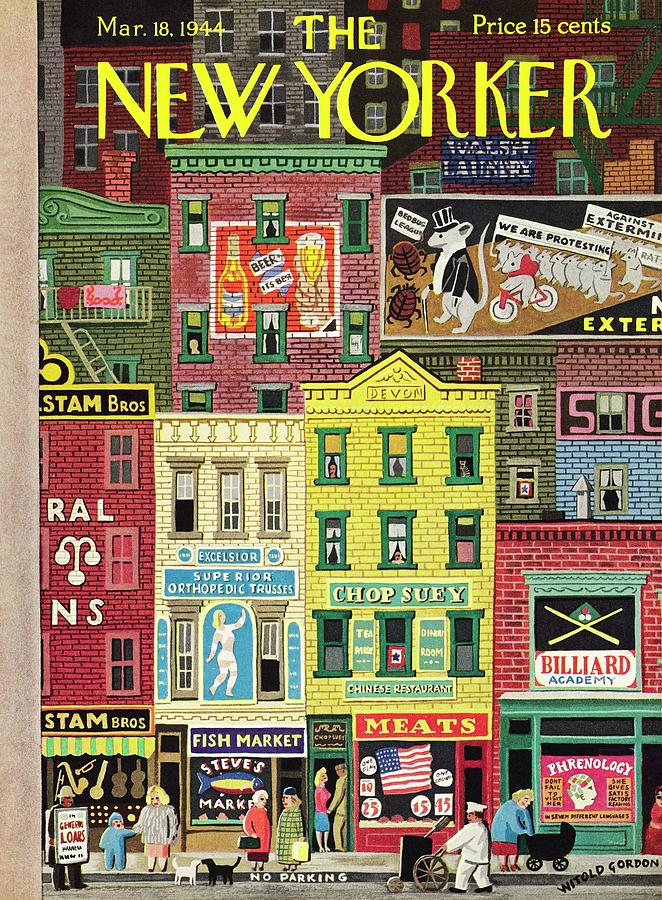 New Yorker March 18 1944 Painting by Witold Gordon