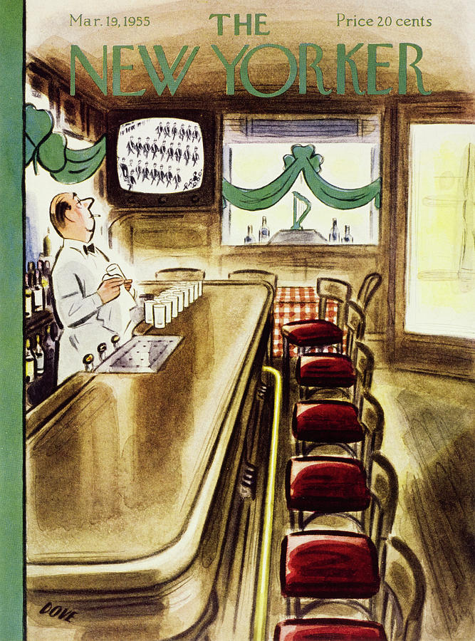 New Yorker March 19, 1955 Painting by Leonard Dove