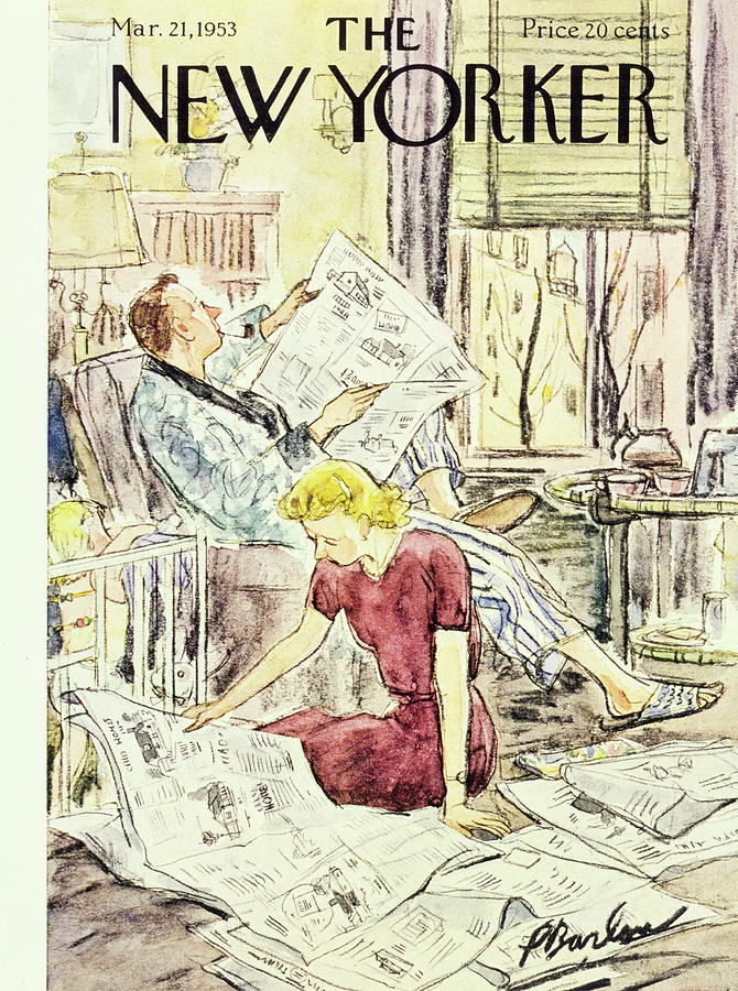New Yorker March 21 1953 Painting by Perry Barlow