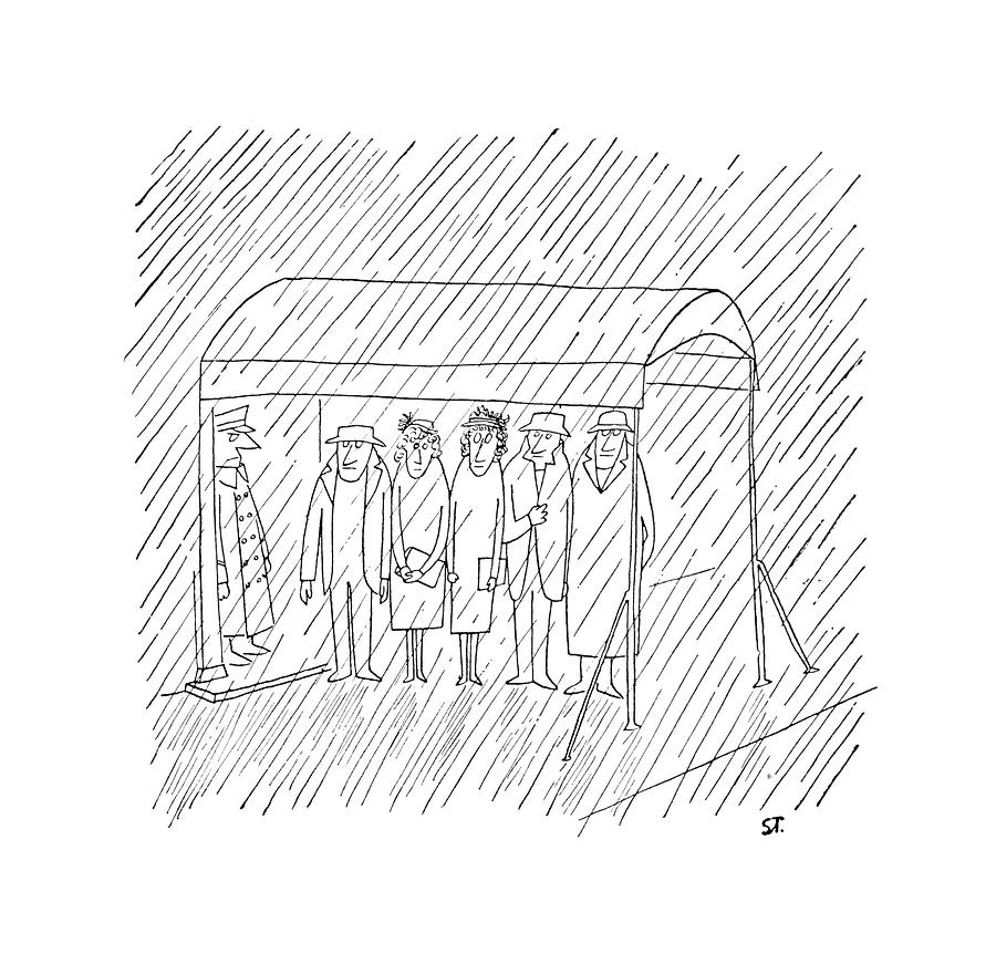 New Yorker March 24th, 1951 Drawing by Saul Steinberg