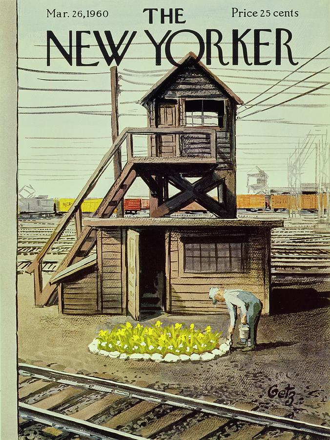 New Yorker March 26 1960 Painting by Arthur Getz