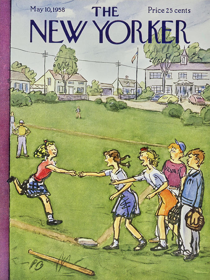 New Yorker May 10 1958 Painting by Perry Barlow