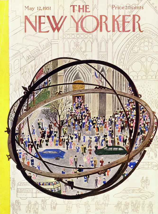 New Yorker May 12 1951 Painting by Ilonka Karasz