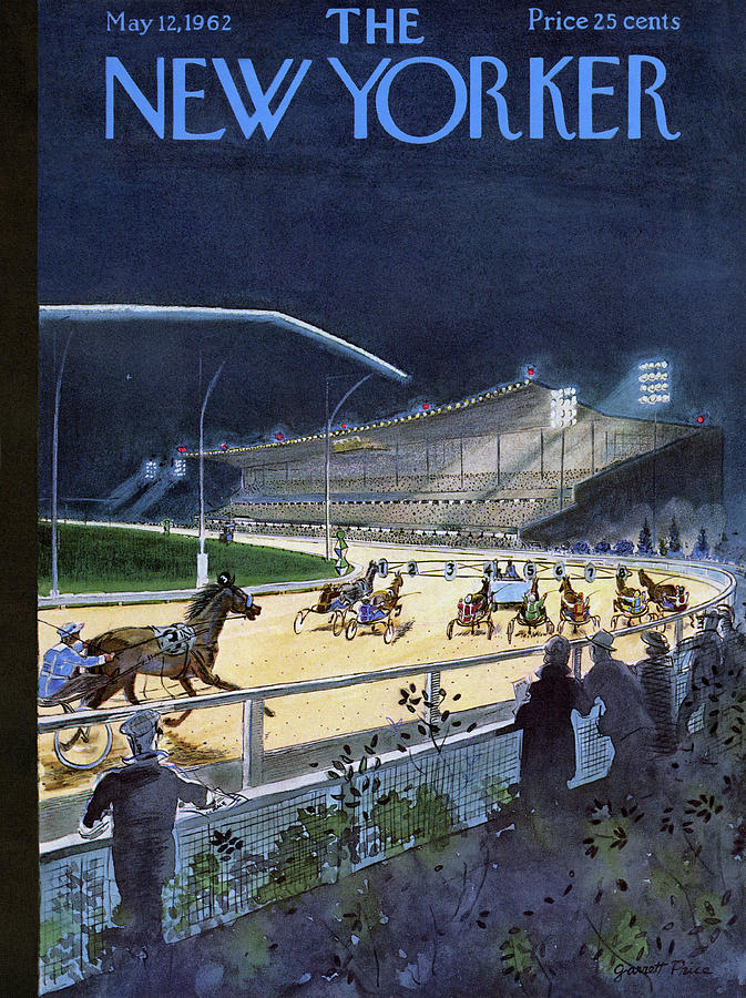 Horses Drawing - New Yorker May 12 1962 by Garrett Price