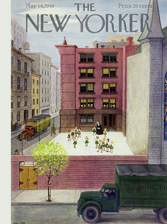 New Yorker May 14 1949 Painting by Edna Eicke