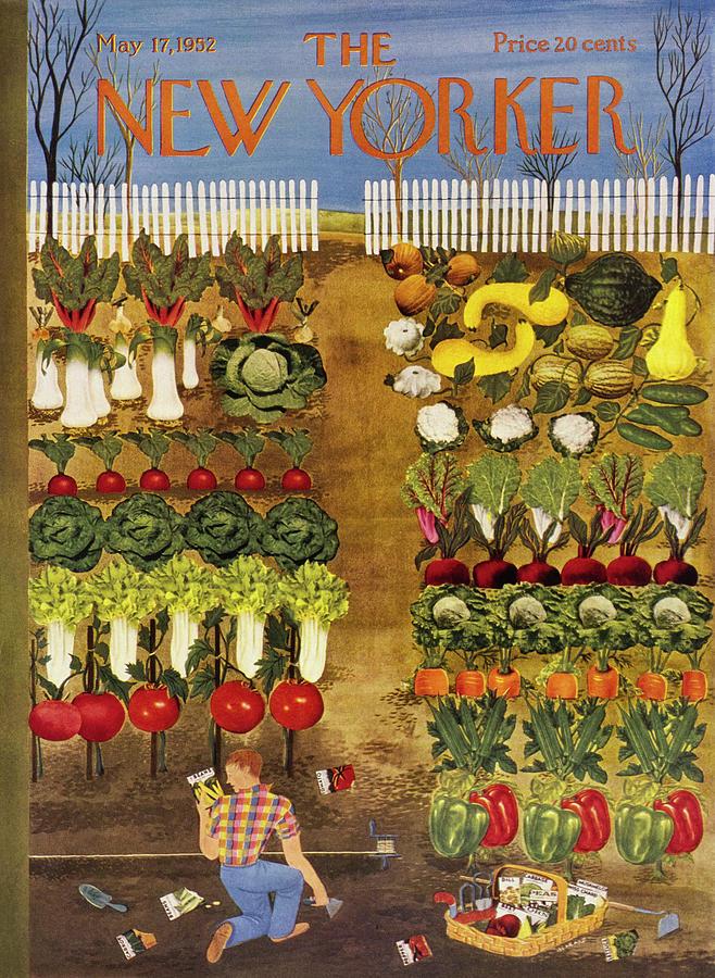 New Yorker May 17 1952 Painting by Ilonka Karasz