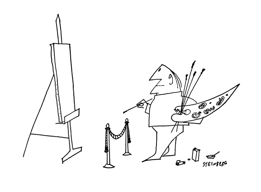 May 27th Drawing - New Yorker May 27th, 1961 by Saul Steinberg