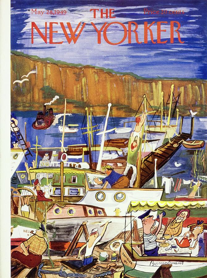 New Yorker May 28 1949 Painting by Ludwig Bemelmans