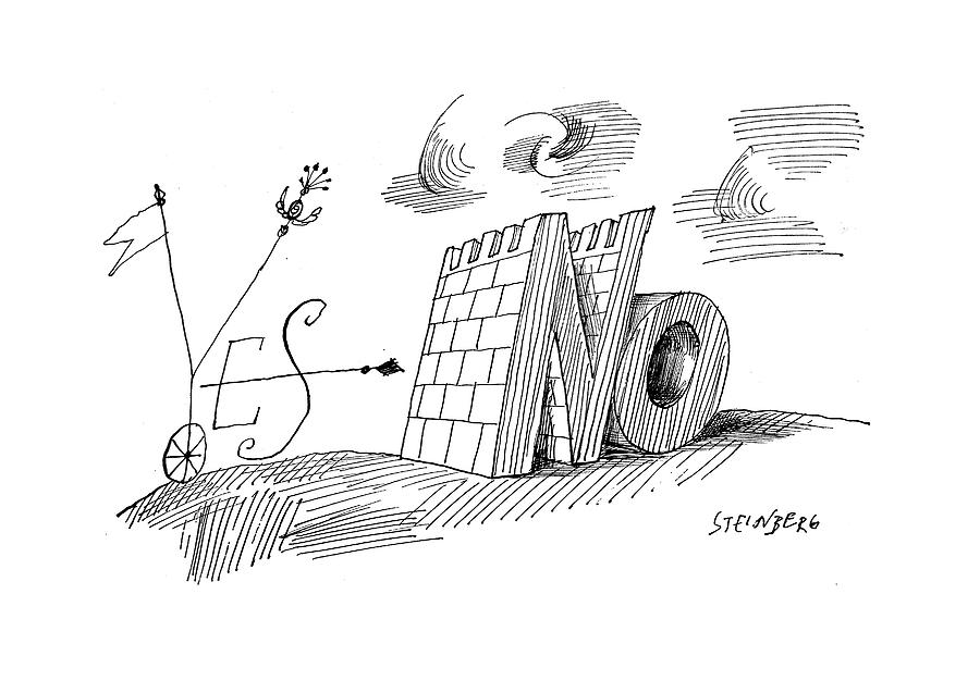 New Yorker May 28th, 1960 Drawing by Saul Steinberg