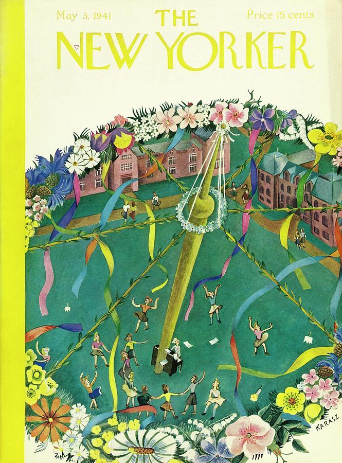 New Yorker May 3 1941 Painting by Ilonka Karasz