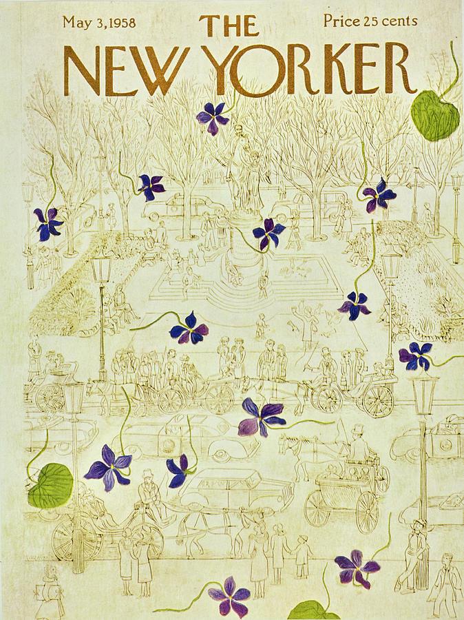 New Yorker May 3 1958 Painting by Ilonka Karasz