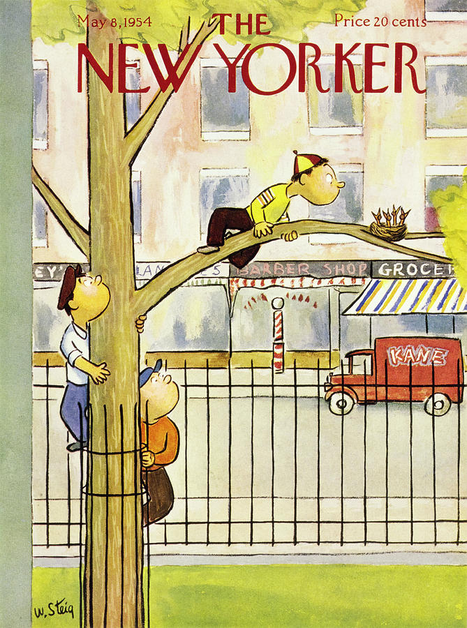 New Yorker May 8 1954 Painting by William Steig