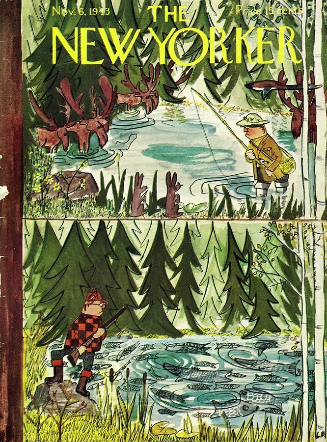 New Yorker November 6 1943 Painting by Ludwig Bemelmans