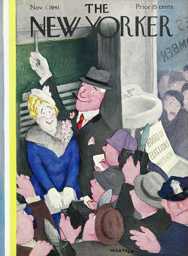 New Yorker November 1 1941 Painting by William Cotton