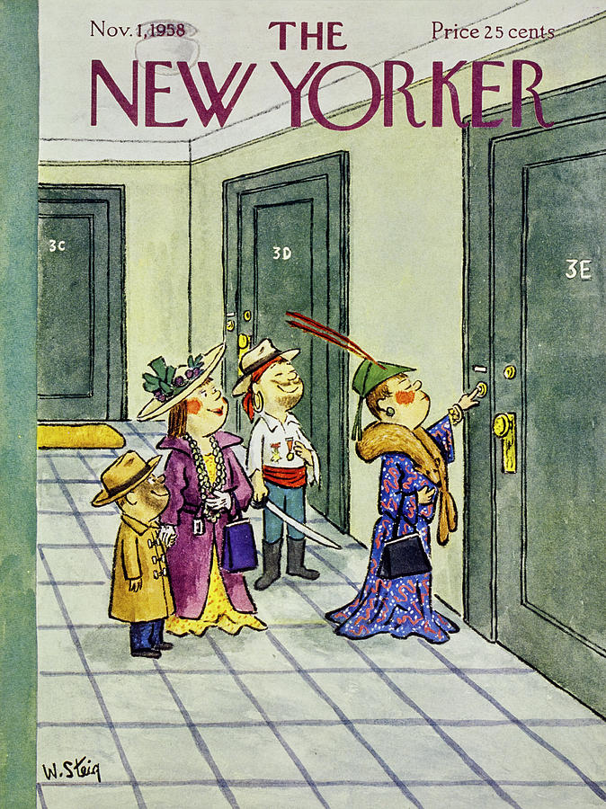 New Yorker November 1 1958 Painting by William Steig