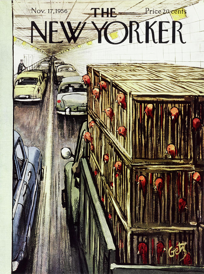 New Yorker November 17 1956 Painting by Arthur Getz