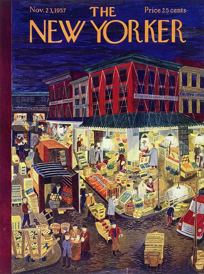 New Yorker November 23 1957 Painting by Ilonka Karasz