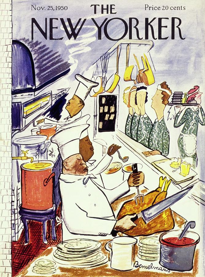 New Yorker November 25 1950 Painting by Ludwig Bemelmans