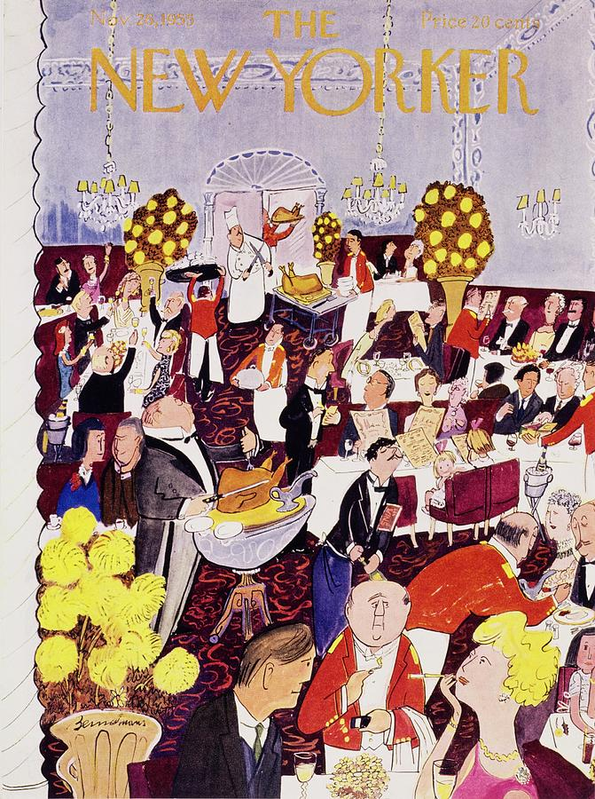 New Yorker November 26 1955 Painting by Ludwig Bemelmans