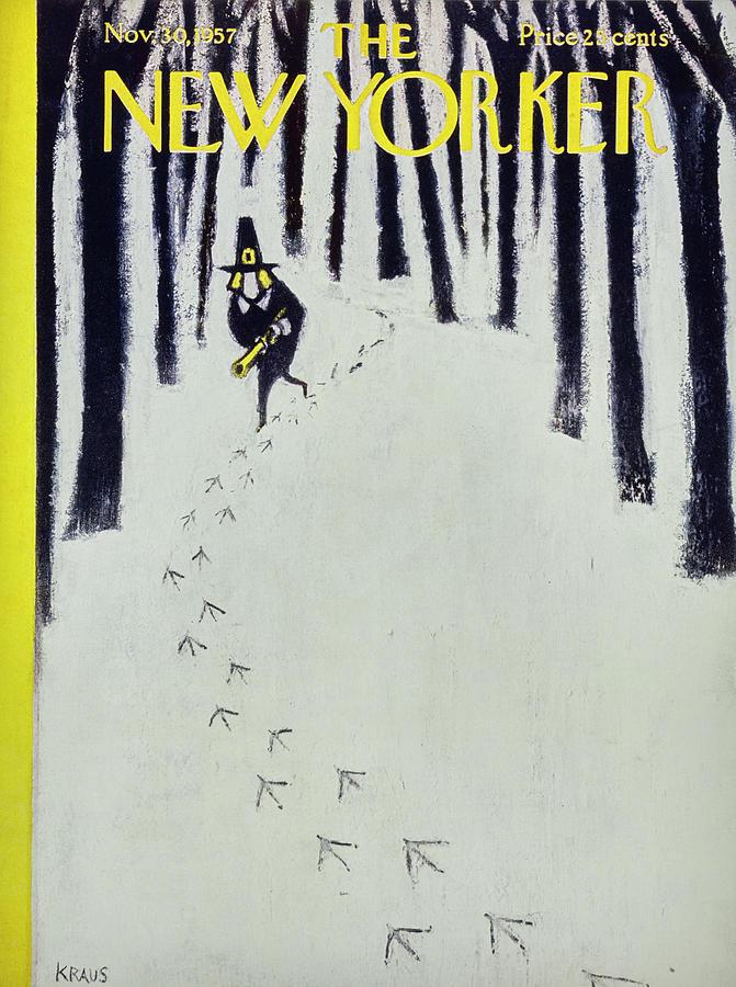 New Yorker November 30 1957 Painting by Robert Kraus